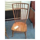 Lot of (2) Antique Wooden High Back Kitchen Chairs