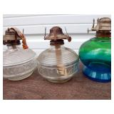 Lot of Antique and Vintage Oil Lamps