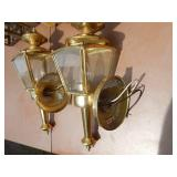 Lot of 6 Vintage Brass Electrical Wall Sconces