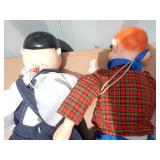 Vintage Oliver Hardy and Howdy Doody Ventriloquist Dummy Dolls