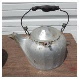 Lot of Two Antique Aluminum Metal Kettles
