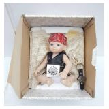 Vintage 1998 Franklin Heirloom Dolls Harley Baby Bobby Porcelain Doll