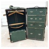Vintage Hartmann Gibraltarized Cushion Top Wardrobe Trunk