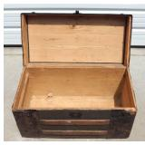 Antique Barrel-Stave Travel Trunk