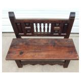 Vintage Wood Bench