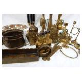 Large Lot of Vintage Brass Items