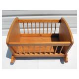 Vintage Wood Baby Cradle