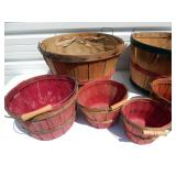 Lot of Vintage Bushel Baskets
