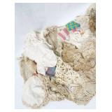 Large Lot of Vintage Doilies, Table Cloths and Dresser Scarves