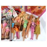 Huge Lot of Vintage Barbie and Ken Dolls and Other Action Figures