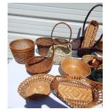 Large Lot of Wicker Items and Baskets