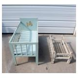 Set of Vintage Toy Cribs