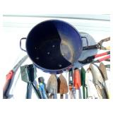Lot of Gardening Tools and Metal Bucket