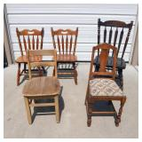 Lot of Vintage Chairs