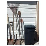 Lot of Yard Tools and Barbecue Forks