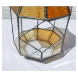 Vintage Stained Glass Garden Terrarium