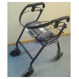 Dolomite Walker Legacy 600 - like new. Locking brakes, seat with back strap, basket, blue - great! Collapsible, 8 inch wheel.