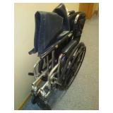 Excel wheelchair - heavy duty with leg and foot supports. 500 lb weight capacity