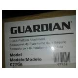 Guardian crutch platform attachment. 2 - left and right - new in box
