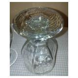 18 glass stemmed water goblets; 12 oz.