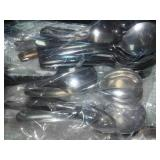 Miscellaneous knives, Forks, teaspoons, tablespoons, soup spoons.