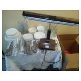 Miscellaneous flatware, bowls, plates, glasses.