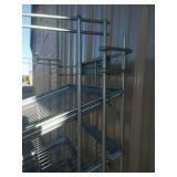 Metal bread 9 rack on casters and Trays. 6-foot, excellent, heavy duty