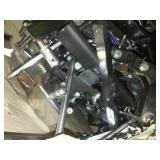 Miscellaneous Chrome wheelchair parts, brakes, anti-reverse, cables - huge box.