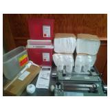 Miscellaneous 3 biohazard sharp containers and more