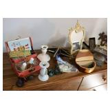 Lot of decorative items and perfume...