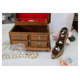 Music box with jewlery and shoe hol...