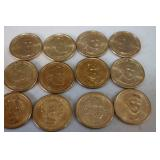 12 Golden Dollar coins- uncirculate...