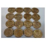 16 Golden Dollar coins - uncirculat...