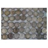 Lot of 1964 and older Franklin dime...