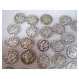 25 mercury dimes...