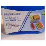 3 New Frigidaire Lunchboxes with Cold Packs