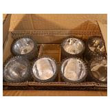 Case of 8 New Candle Holders and 4 New Candles