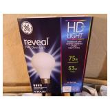 128 New GE Reveal HD+ Lightbulbs