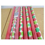 Lot of 8 Rolls Christmas Wrapping Paper