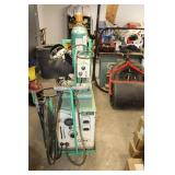 Union Carbide Linde MIG-35 Wire Feeder Welder with Linde VI-253 C/DC Power Supply