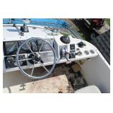 1988 Bayliner Ciera 25ft. Dual Deck Cabin Inboard Motor Cruiser Boat with Tandem Axle Trailer