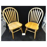 Two Solid Oak Winslow Back Chairs
