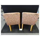 Two Mid Century Style Custom Made Chairs