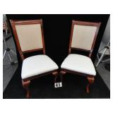 Two Wood Side Chairs