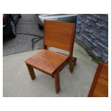 Church Pew Chair with Kneeler