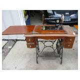 Antique New Howard Sewing Machine