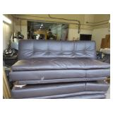 Serta Dream Convertible Leather Futon