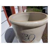 20 Gallon Union Stoneware Company Red Wing Crock with Lid