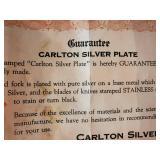 Carlton Silver Plate Six Piece Dinner Set