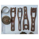 Horse hame parts and small saddle weights
